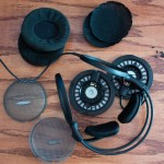 Disassembled AD900s. The speaker assembly remains connected to the body.
